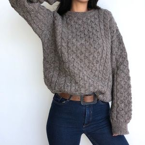 Vintage wool oversized chunky knit sweater S